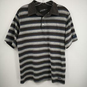 Billabong Men's L Short Sleeve Polo Shirt Gray